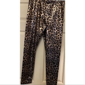 Leopard print black and gold long  pants
